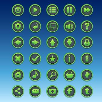 Grande kit de botões redondos com diferentes imagens