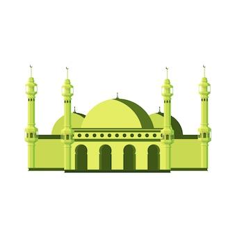 Grande mesquita plana com torres