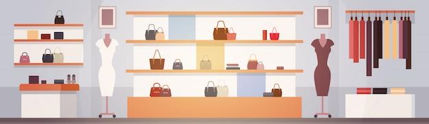 Grande moda loja super mercado feminino roupas shopping center interior banner com cópia espaço
