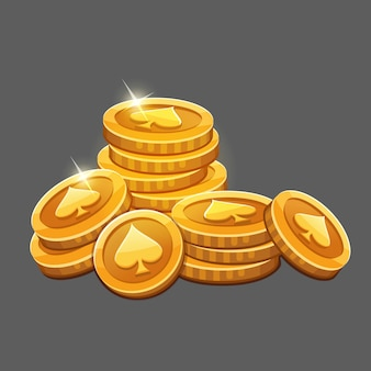 Grande monte de moedas de ouro