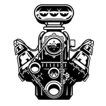 Grande motor de muscle car
