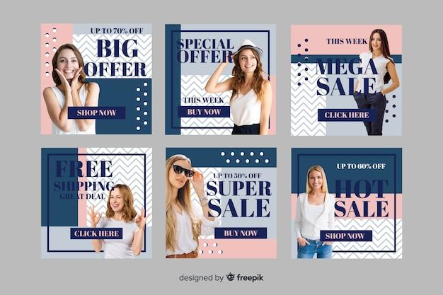 Grande oferta moda venda instagram post coleção