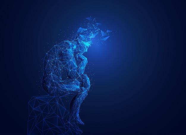 Grande pensador de polígono
