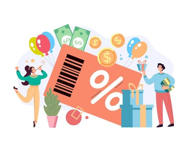 Grande promoção de desconto do programa de cartão de crédito de fidelidade