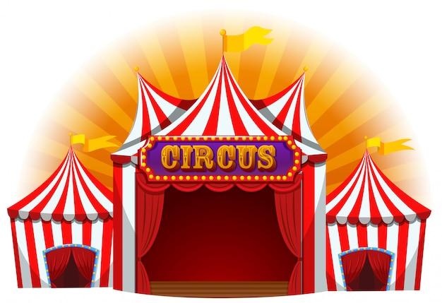 Grande tenda de circo divertida