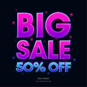 Grande venda 50 de desconto efeito de texto 3d