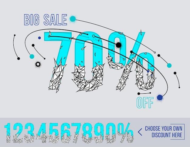 Grande venda com números poligonais super venda