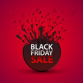 Grande venda da black friday, vendas de banner sazonais. ilustração vetorial