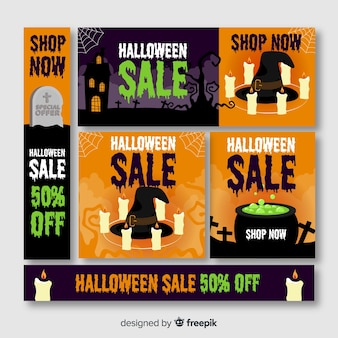 Grande venda de halloween oferece web banner