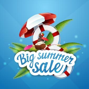 Grande venda de verão, desconto, layout de banner da web clicável para sua criatividade