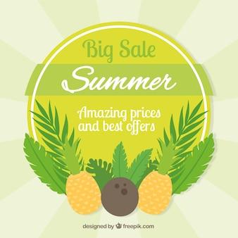 Grande, verão, venda, fundo