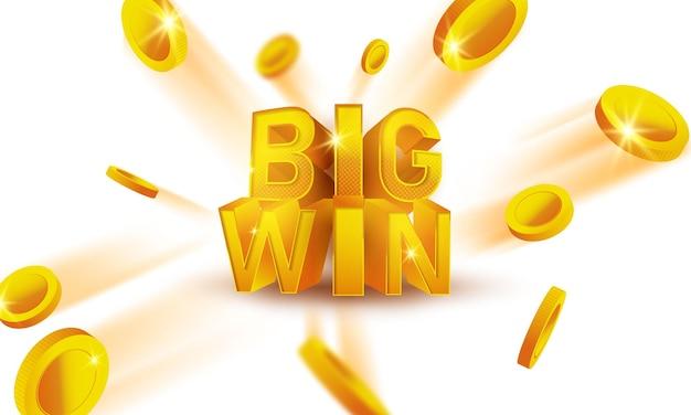Grande vitória casino convite vip de luxo com fundo de banner confete festa de celebração de jogos de azar.