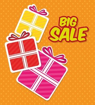 Grandes descontos de venda e ofertas de compras