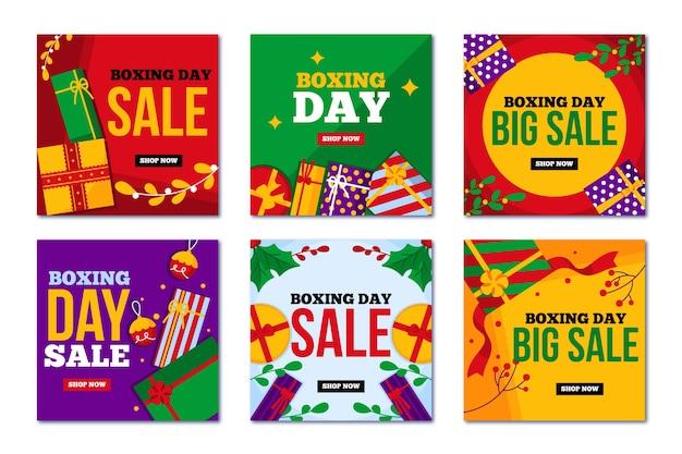 Grandes vendas para o boxe no dia de natal nas mídias sociais