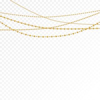 Grânulos de ouro em um fundo branco.