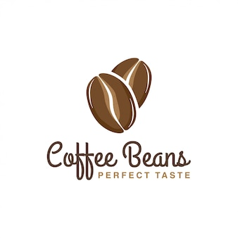 Grãos de café logotipo