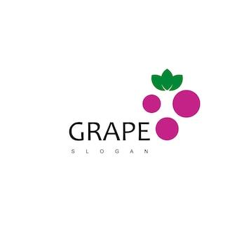 Grape logo design vector