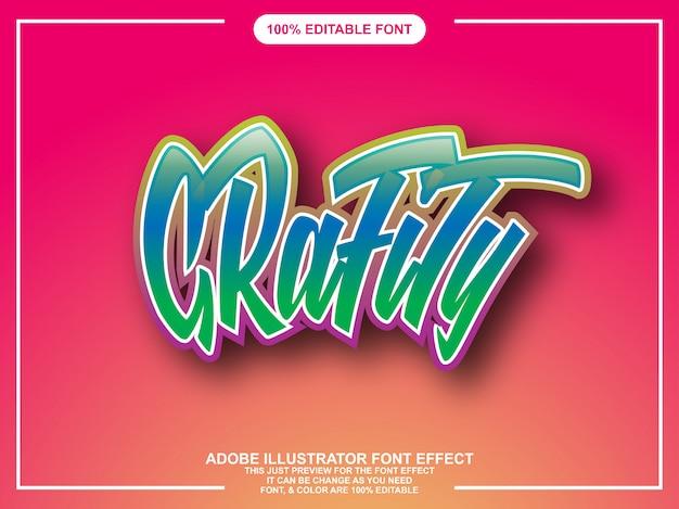 Graphity graphic style illustrator editável tipografia