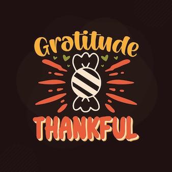 Gratidão grata design de citações de gratidão premium vector