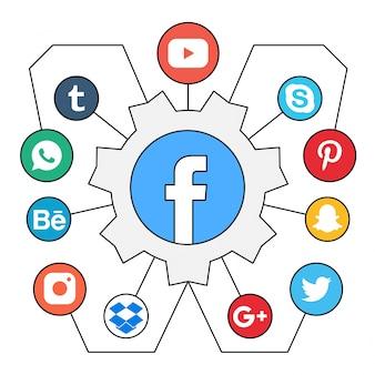Grátis de social media vetores