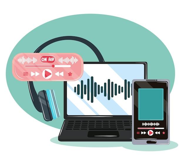 Gravação e audição de podcasts