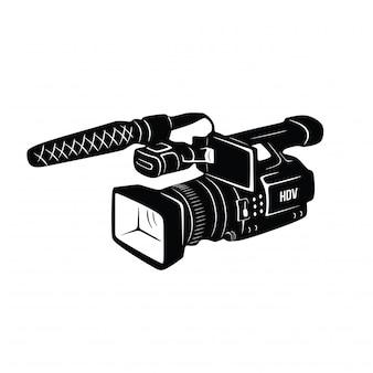 Gravador de vídeo vintage desenhado a mão