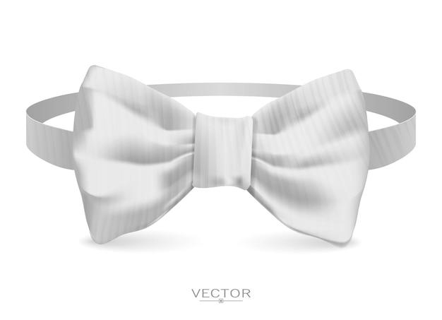 Gravata borboleta realista, ilustração vetorial, isolada no fundo branco