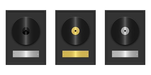 Grave a ilustração do disco isolada no fundo branco