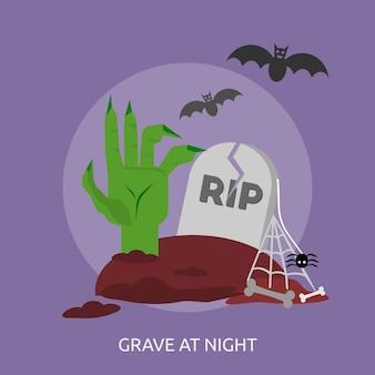 Grave at night conceptual design