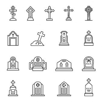 Grave rip halloween conceito ícone