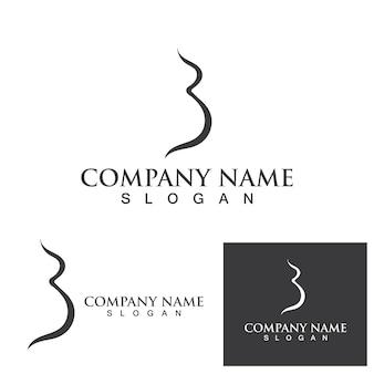 Grávida logotipo modelo vetorial ícone ilustração design