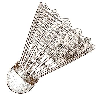 Gravura antiga ilustração de peteca