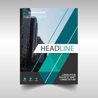 Green creative annual report book cover template