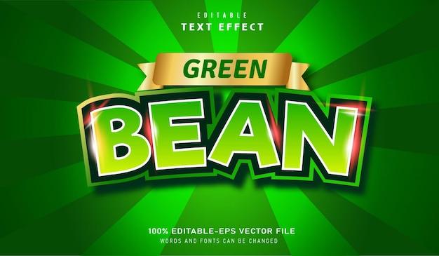 Green text effect editable font