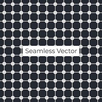 Grelha sem costura padrão geométrico vetorial