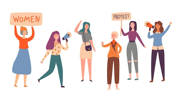 Greve de protesto do grupo feminino de feminismo