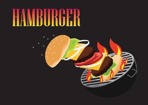 Grill hamburger.