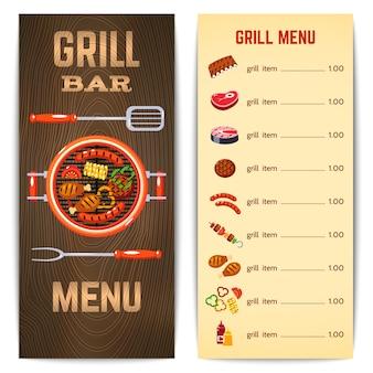 Grill menu ilustração
