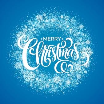 Grinalda azul do floco de neve de natal