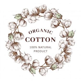 Grinalda com algodão