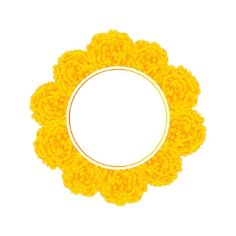 Grinalda de bandeira de calêndula amarela