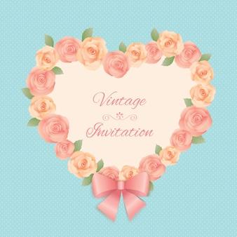 Grinalda de coração de rosas