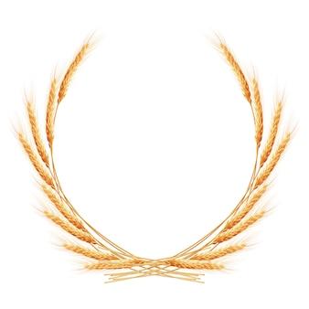 Grinalda de espigas de trigo.