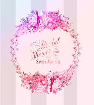 Grinalda de flores blosoom