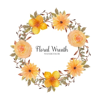 Grinalda de flores rústicas amarelas lindas