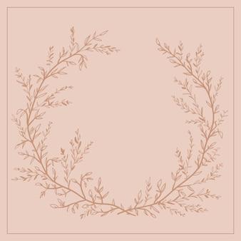 Grinalda de galhos e folhas