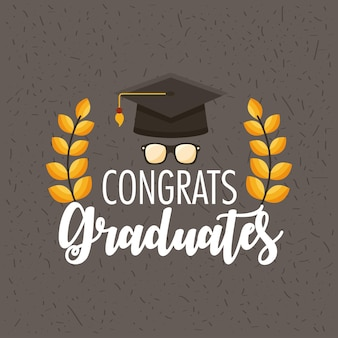 Grinalda de graduados parabéns