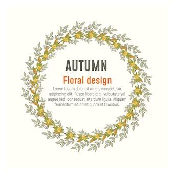Grinalda de outono e quadros. folhas de outono.