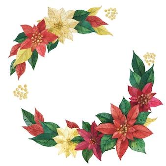 Grinalda de poinsettia estrela de natal