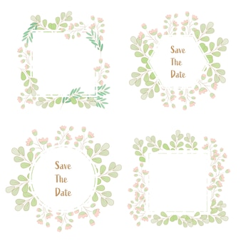 Grinalda de primavera estilo minimalista grama flor